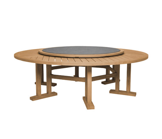 ARBOR DINING TABLE ROUND 239 WITH LAZY SUSAN di JANUS et Cie | Tavoli pranzo
