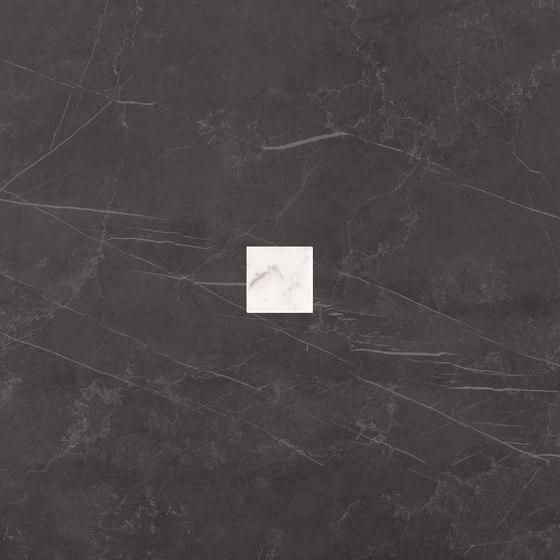 Deluxe | Dark White Tozzetto Reflex von Marca Corona | Keramik Fliesen