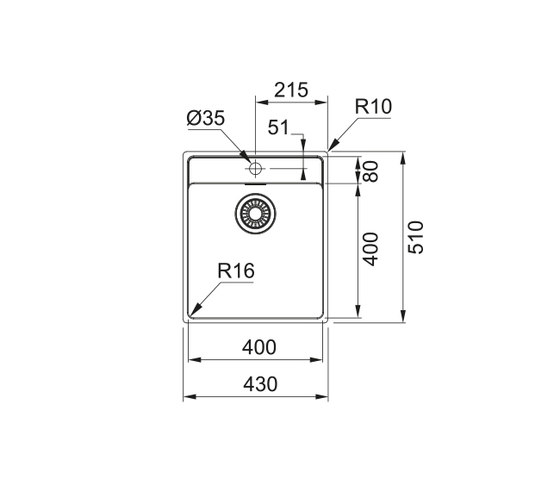 Maris Sink MRX 210-40 TL Stainless Steel by Franke Kitchen Systems | Kitchen sinks