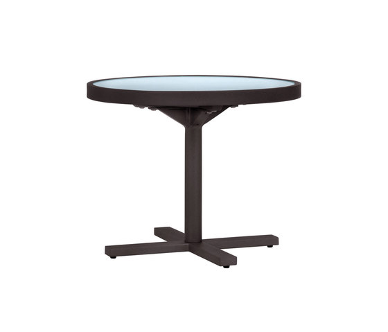 DUO GLASS TOP SIDE TABLE ROUND 53 de JANUS et Cie | Tables de repas