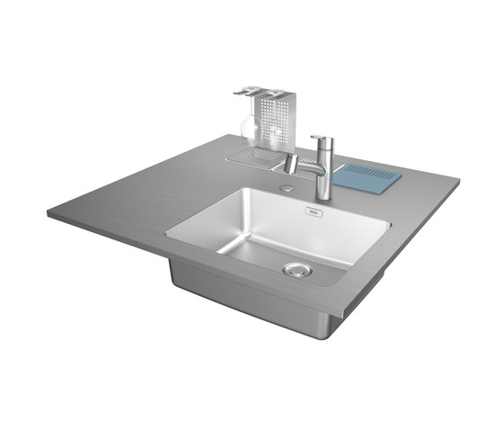 Creative Stainless Steel Worktop Wet Module by Franke Kitchen Systems | Metal panels
