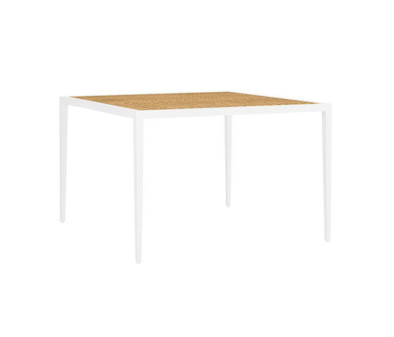 HATCH DINING TABLE SQUARE 112 de JANUS et Cie | Mesas comedor