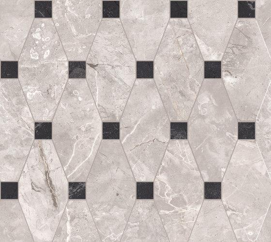 Newluxe Floor | Tessera Losanga Reflex Grey by Marca Corona | Ceramic tiles