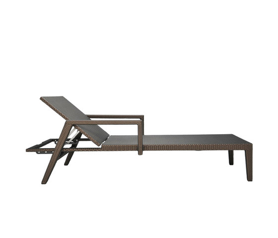 QUINTA FULLY WOVEN CHAISE LOUNGE WITH ARMS by JANUS et Cie | Sun loungers