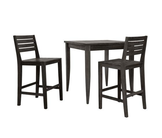 RELAIS BAR TABLE SQUARE 99 de JANUS et Cie | Mesas altas