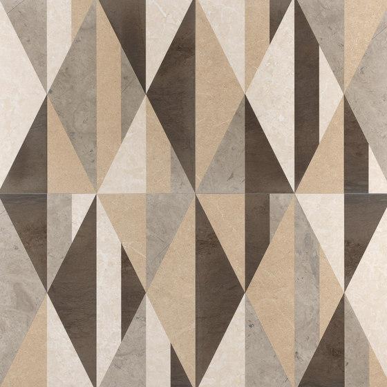 Opus | Tangram cappuccino de Lithos Design | Panneaux en pierre naturelle