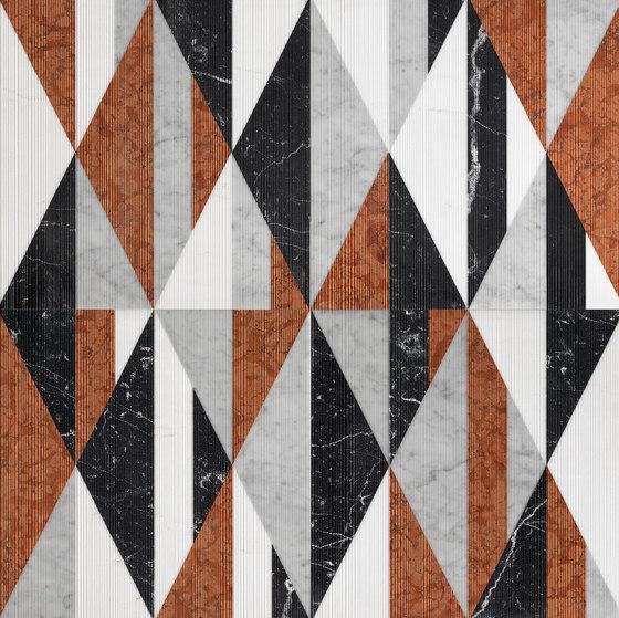 Opus | Tangram memphis di Lithos Design | Piastrelle pietra naturale