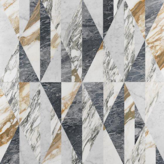 Opus | Tangram patchwork di Lithos Design | Lastre pietra naturale