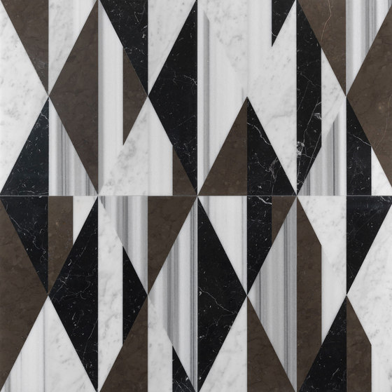 Opus | Tangram smoking by Lithos Design | Natural stone panels