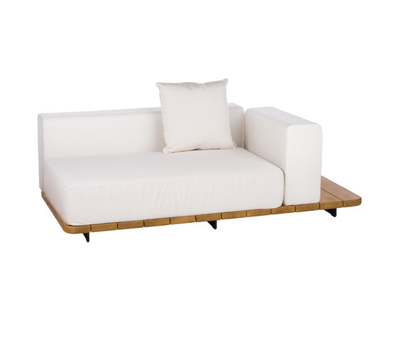 Pal DOUBLE SEAT & BACK + LEFT ARM TO RIGHT by Point | Sofas