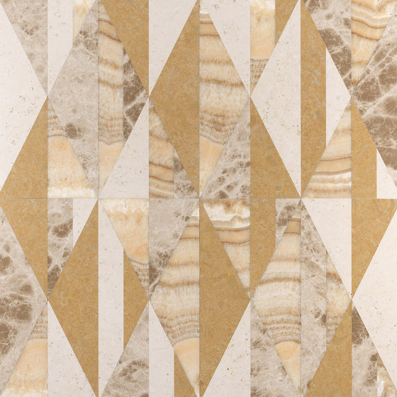 Opus | Tangram zafferano by Lithos Design | Natural stone panels