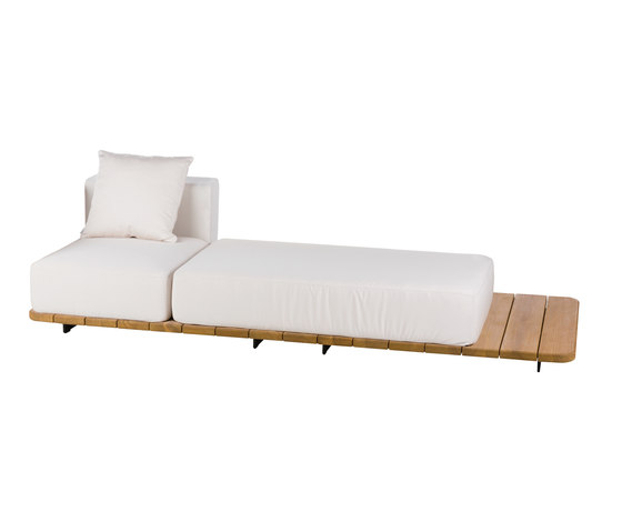 Pal BASE 246 X 92 + LEFT SINGLE SEAT & BACK + DOUBLE SEAT by Point | Garden sofas