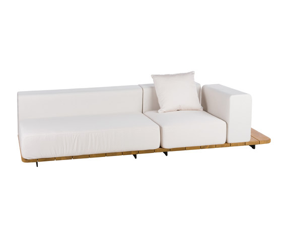 Pal DOUBLE SEAT & BACK + SINGLE SEAT & BACK + LEFT ARM. TO RIGHT by Point | Garden sofas