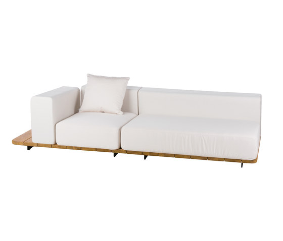 Pal DOUBLE SEAT & BACK + SINGLE SEAT & BACK + RIGHT ARM. TO LEFT by Point | Sofas