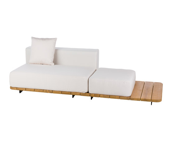 Pal RIGHT DOUBLE SEAT & BACK + SINGLE SEAT by Point | Garden sofas