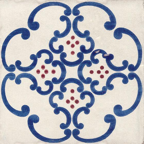 Jolie   Blanc Bleu Trama S/1 de Marca Corona   Baldosas de cerámica