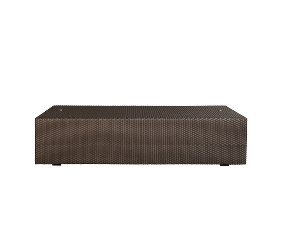 SEE! CLOSED OTTOMAN / COCKTAIL TABLE X WIDE 138 by JANUS et Cie | Poufs