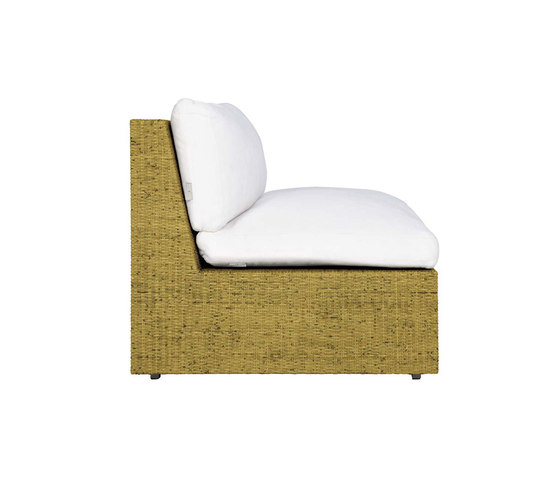 SEE! RATTAN CLOSED MODULE CENTER X WIDE by JANUS et Cie | Modular seating elements