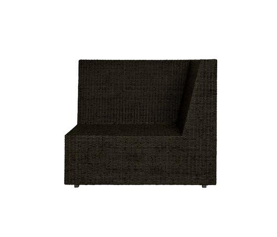 SEE! RATTAN CLOSED MODULE CORNER by JANUS et Cie | Modular seating elements