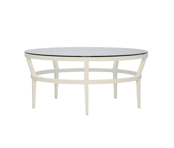 SLANT GLASS TOP COCKTAIL TABLE ROUND 102 by JANUS et Cie | Coffee tables