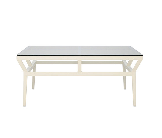 SLANT GLASS TOP COCKTAIL TABLE SQUARE 102 by JANUS et Cie | Coffee tables