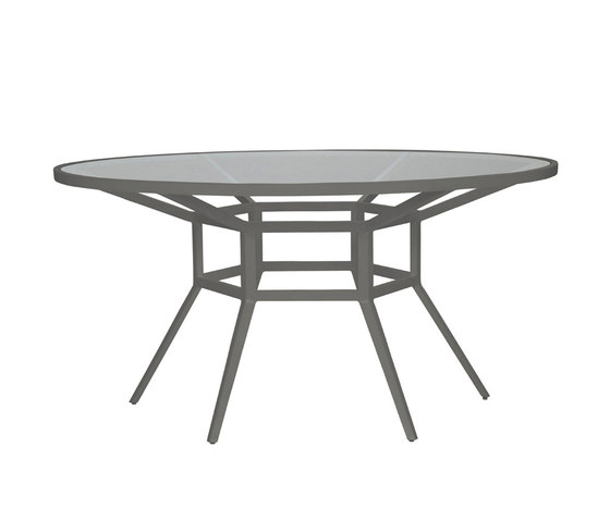 SLANT GLASS TOP DINING TABLE ROUND 153 by JANUS et Cie | Restaurant tables