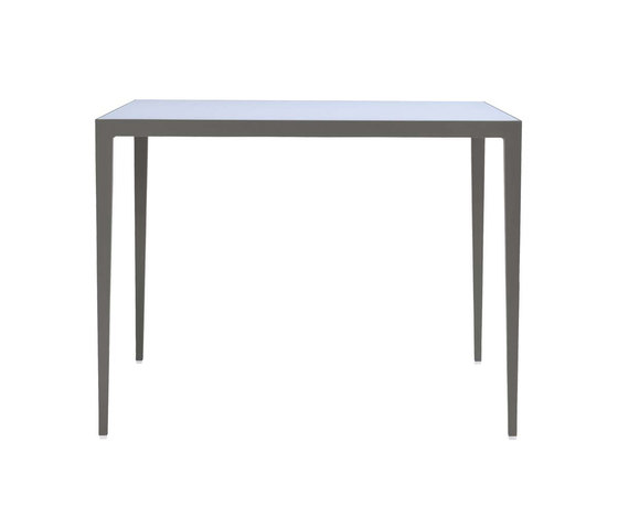 SLANT GLASS TOP DINING TABLE SQUARE 99 by JANUS et Cie | Dining tables