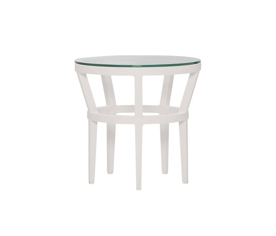 SLANT GLASS TOP SIDE TABLE ROUND 51 by JANUS et Cie | Side tables
