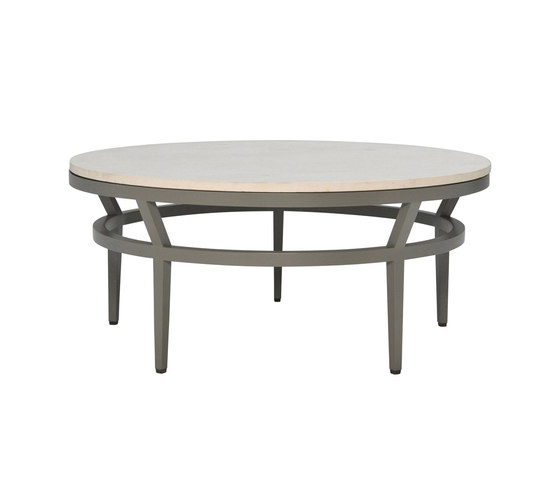 SLANT STONE TOP COCKTAIL TABLE ROUND 102 by JANUS et Cie | Coffee tables