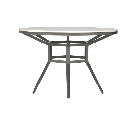 SLANT STONE TOP DINING TABLE ROUND 122 by JANUS et Cie | Restaurant tables