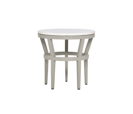 SLANT STONE TOP SIDE TABLE ROUND 51 by JANUS et Cie | Side tables