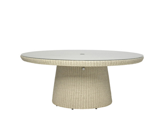 STRADA GLASS TOP DINING TABLE ROUND 180 by JANUS et Cie | Restaurant tables