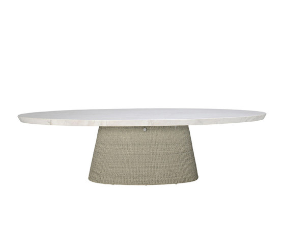 STRADA STONE TOP DINING TABLE OVAL 260 von JANUS et Cie | Esstische