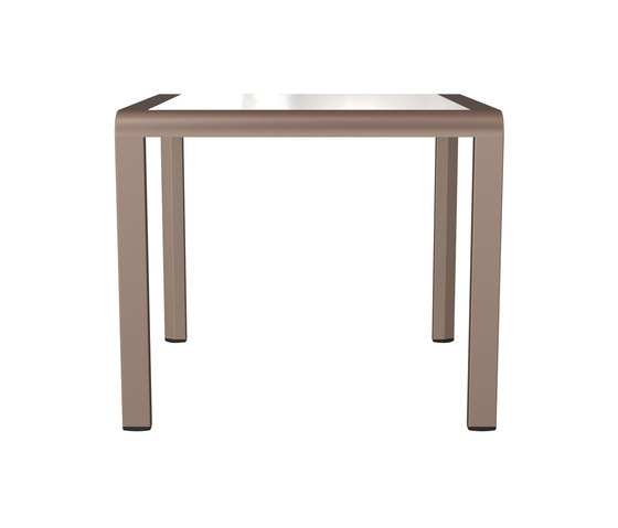 ZEPHYR GLASS TOP SIDE TABLE SQUARE 53 by JANUS et Cie | Canteen tables