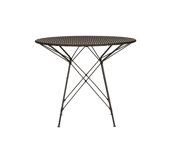 WHISK WOVEN TOP DINING TABLE ROUND 90 by JANUS et Cie | Dining tables