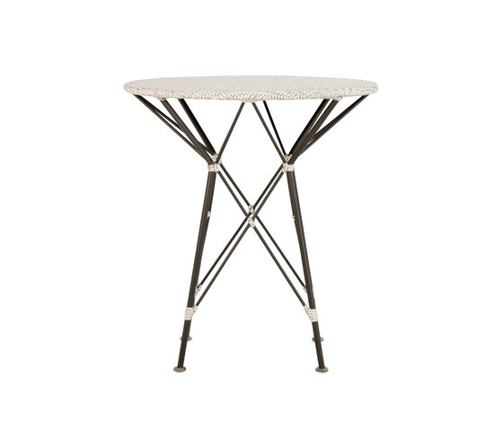 WHISK RATTAN WOVEN TOP SIDE TABLE ROUND 52 by JANUS et Cie | Side tables