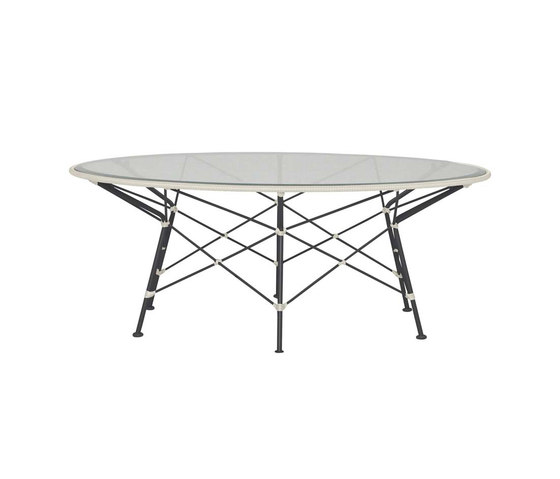 WHISK RATTAN GLASS TOP COCKTAIL TABLE ROUND 107 by JANUS et Cie | Coffee tables