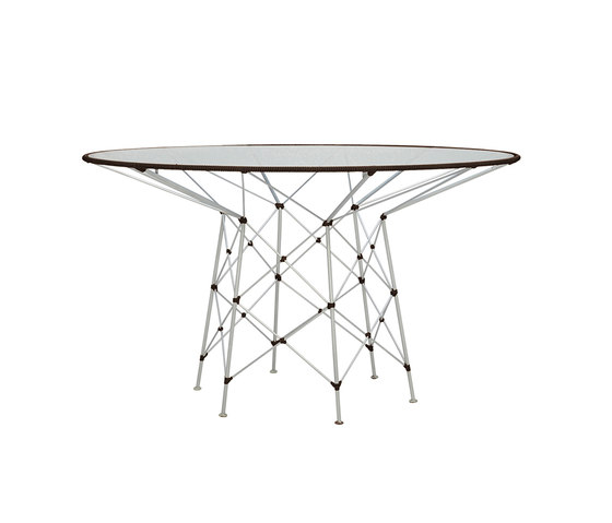 WHISK GLASS TOP DINING TABLE ROUND 130 by JANUS et Cie | Dining tables