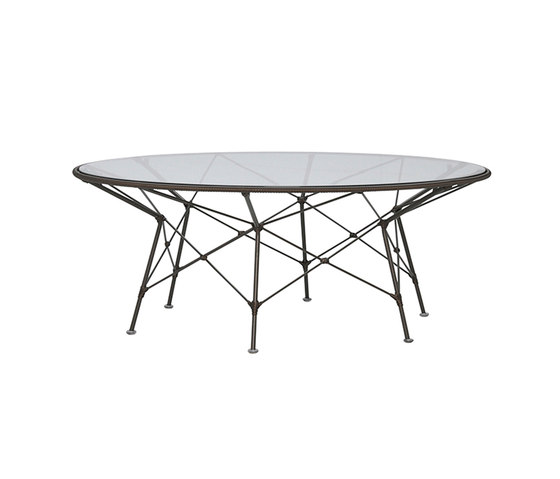 WHISK GLASS TOP COCKTAIL TABLE ROUND 107 by JANUS et Cie   Coffee tables