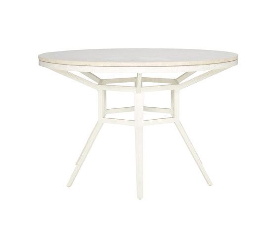 SLANT STONE TOP DINING TABLE ROUND 122 di JANUS et Cie | Tavoli pranzo