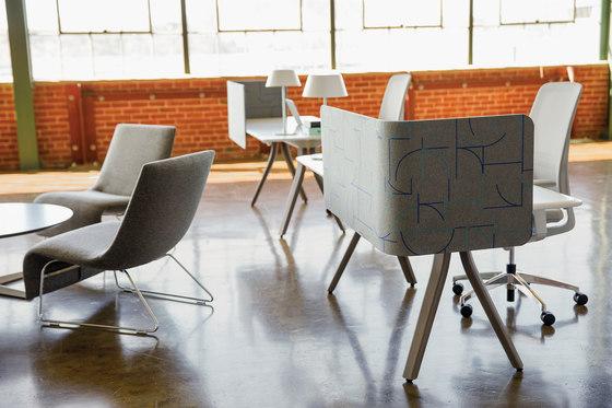 Zones Desk Edge Screens de Teknion   Separadores de mesa