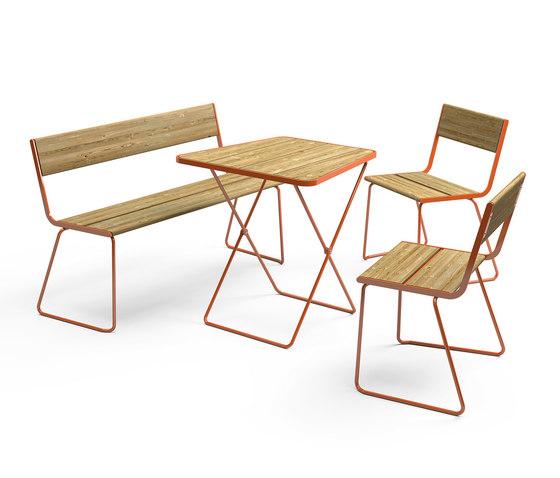 April Go folding table von Vestre | Bistrotische