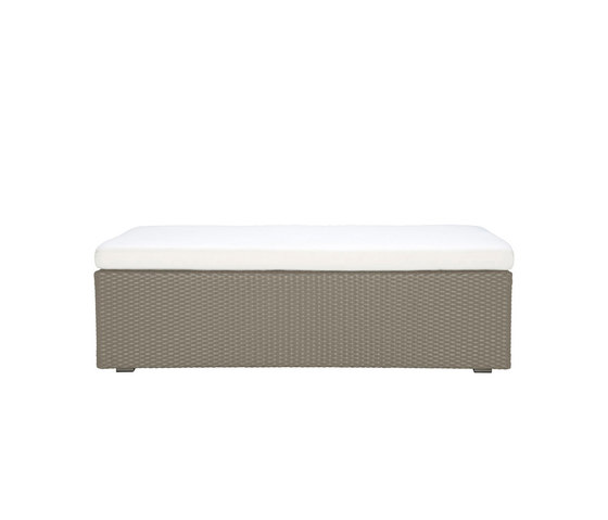 SEE! RATTAN OPEN OTTOMAN / TABLE X WIDE 138 by JANUS et Cie | Poufs