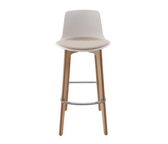 Lottus Wood Stool by ENEA | Bar stools
