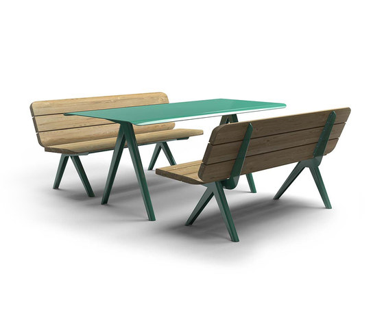 Nunu bench & table by Vestre | Tables and benches
