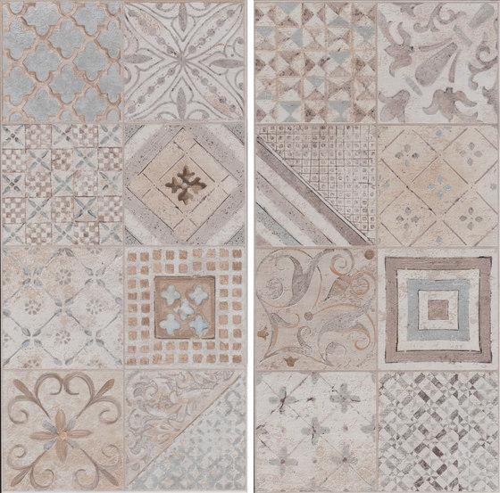 Amarcord Bianco | Decoro Tradizione Rettificato von Rondine | Keramik Fliesen