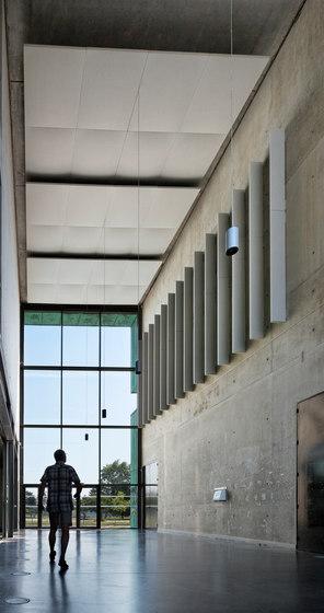 Stereo acoustic panels suspended in clusters de Texaa® | Sistemas de techos acústicos