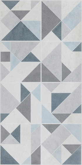Amarcord Bianco | Decoro Squary Rettificato by Rondine | Ceramic tiles
