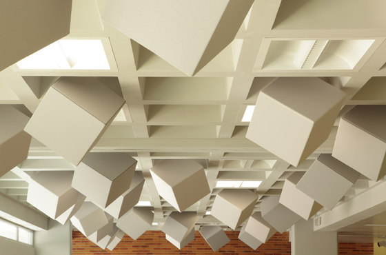 Abso acoustic cubes di Texaa® | Soffitti fonoassorbenti