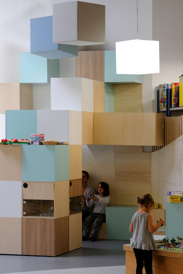 Abso acoustic cubes by Texaa® | Sound absorbing freestanding systems
